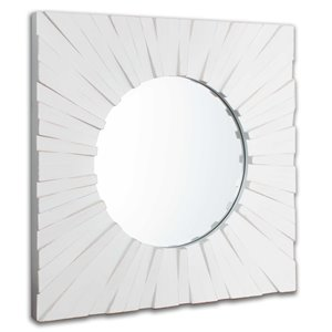 Gild Design House Tallulah Wood Mirror - White - 18-in x 30-in