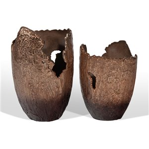 Gild Design House Terra Vase - Small - Copper/Bronze - 13-in x 10-inx 7-in