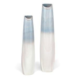 Gild Design House Tides Ceramic Floor Vase - Large - Blue - 47-in