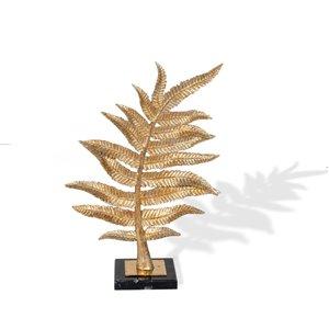 Gild Design House Gilded Fern II Leaf Sculpture - Gold - 12-in x 5-in x 17-in H