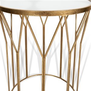 Gild Design House Karrissa Accent Tables - Gold and Mirror - Set of 2