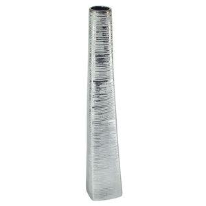 Gild Design House Roan Ceramic Floor Vase - Small - Silver - 40-in