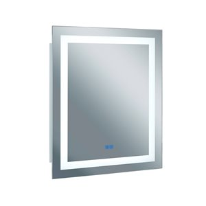 CWI Lighting Abigail Sqaure Mirror with LED Light - Matte White