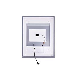 CWI Lighting Abigail Rectangular Mirror with LED Light - 3,000 K - 32-in x 40-in - Matte White