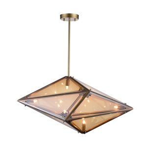 CWI Lighting Pento 8-Light Pendant with Champagne Finish