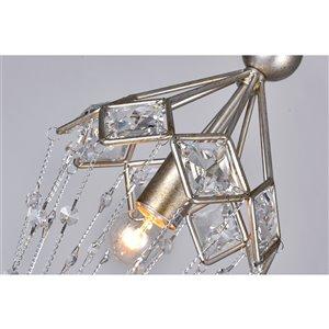 CWI Lighting Pembina Mini Chandelier - 1-Light - Speckled Nickel