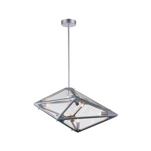 CWI Lighting Pento 8-Light Pendant with Silver Finish - 29-in