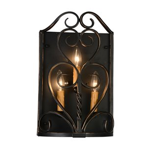 CWI Lighting Branch 3-Light Wall Sconce with Autumn Bronze Finish