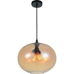 CWI Lighting Glass Pendant Light - 4-Light - Transparent Amber