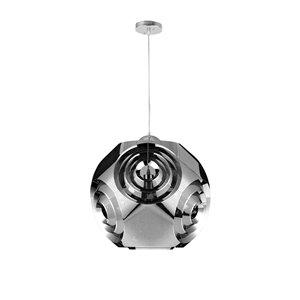 CWI Lighting Kingsley Pendant Light - 1-Light - Chrome - 15-in