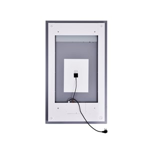 CWI Lighting Abril Rectangular Mirror with LED Light - 30-in x 49-in - Matte White