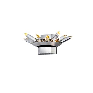 CWI Lighting Arctic Queen Wall Sconce - LED Light - Polished Nickel