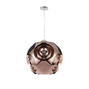 CWI Lighting Kingsley Pendant Light - 1-Light - Copper