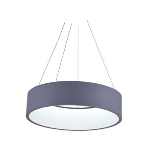 CWI Lighting Modern Arenal Pendant Light - LED - 24-in - Grey and White