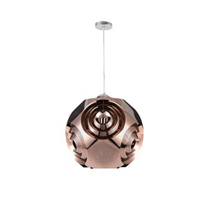 CWI Lighting Kingsley Pendant Light - 1-Light - Copper - 10-in