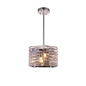 CWI Lighting Squill Mini Chandelier - 3-Light - Polished Nickel