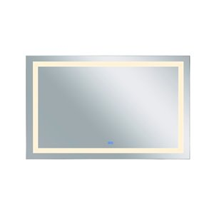 CWI Lighting Abril Rectangular Mirror with LED Light - 70-in x 36-in - Matte White