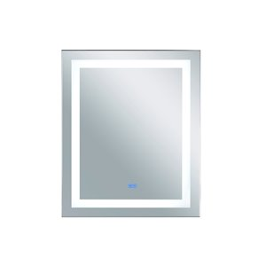CWI Lighting Abril Rectangular Mirror with LED Light - 30-in x 36-in - Matte White