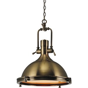 CWI Lighting Show Pendant Light - 1-Light - Antique Bronze