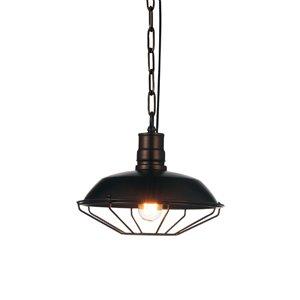 CWI Lighting Morgan Mini Pendant Light - 1-Light - Chocolate - 11-in