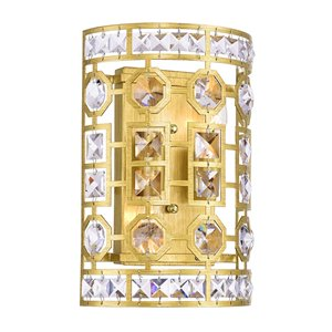 CWI Lighting Belinda 2-Light Wall Sconce with Champagne Finish