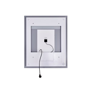 CWI Lighting Abril Rectangular Mirror with LED Light - 6,000 K - 30-in x 36-in - Matte White