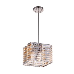 CWI Lighting Squill Mini Chandelier - 4-Light - Polished Nickel