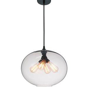 CWI Lighting Glass Pendant Light - 4-Light - Transparent