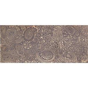 Mono Serra Ceramic Tile 8-in x 20-in Sari Oro Brown 10.76 sq.ft. / case (10 pcs / case)