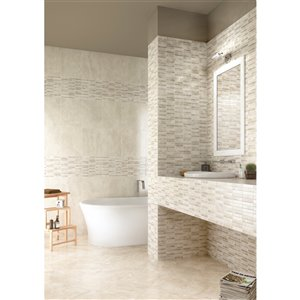 Mono Serra Ceramic Tile 13.4-in x 13.4-in Tevere Mosaic 17.43 sq.ft. / case (14 pcs / case)