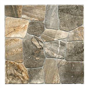 Mono Serra Porcelain Tile 17-in x 17-in Collage Alpine Stone 14.33 sq.ft. / case (7 pcs / case)