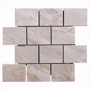 Mono Serra Porcelain Tile 12-in x 14-in Alpine Sand Mosaic 4 sq.ft. / case (4 pcs / case)