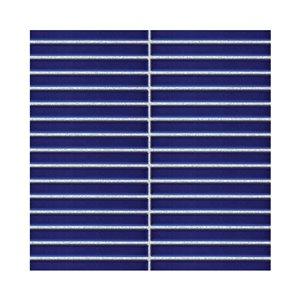 Mono Serra Ceramic Mosaic 12-in x 12-in Strips Blue 13 sq.ft. / case (13 pcs / case)