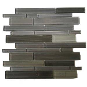 Mono Serra Glass Mosaic 12'' x 12'' Skyline Gray 5 sq.ft. / case (5 pcs / case)