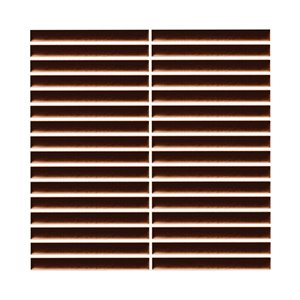 Mono Serra Ceramic Mosaic 12-in x 12-in Strips Chocolate 13 sq.ft. / case (13 pcs / case)