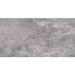 Mono Serra Porcelain Tile 12-in x 24-in Excalibur Dark Gray 14.21 sq.ft. / case (7 pcs / case)