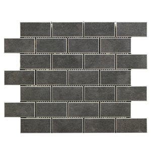 Mono Serra Porcelain Tile 12-in x 12-in Vega Nero Mosaic 5 sq.ft. / case (5 pcs / case)