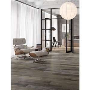 Mono Serra Porcelain Tile 6-in x 36-in Barnwood Magma 13.13 sq. ft. / case (9pcs / case)