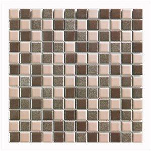 Mono Serra Porcelain Mosaic 12-in x 12-in Multi Brown 20 sq.ft. / case (20 pcs / case)