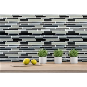 Mono Serra Glass Mosaic 12'' x 12'' Skyline Marino 5 sq.ft. / case (5 pcs / case)