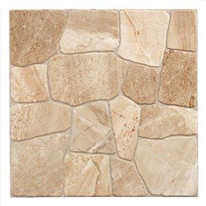 Mono Serra Porcelain Tile 17-in x 17-in Collage Alpine Sand 14.33 sq.ft. / case (7 pcs / case)