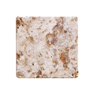 Mono Serra Tumbled Marble 4'' x 4'' Travertino Scabas 5.50 sq. ft / case (50 pcs / case)