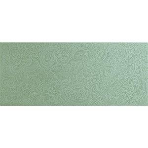 Mono Serra Ceramic Tile 8-in x 20-in Cachemira Turquesa 10.76 sq.ft. / case (10 pcs / case)