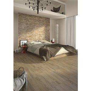 Mono Serra Ceramic Tile 13-in x 19-in Acero 18.96 sq.ft. / case (11 pcs / case)