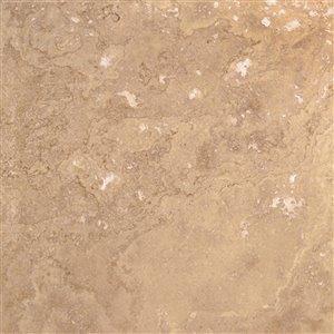 Mono Serra Tumbled Marble 18'' x 18'' Travertino Noce 9 sq. ft / case (4 pcs / case)