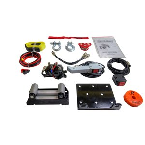 Runva Electric Winch with Steel Cable - 12 V - 2,500-lb - 2.6 HP Motor