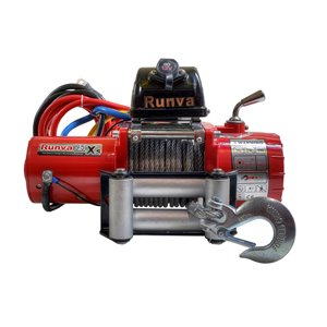Runva Off-Road Recovery Electric Winch Kit - 12 V - 9,500-lb - 5.8 HP Motor