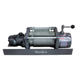 Runva Hydraulic Towing Recovery Winch Kit - 10,000-lb - Steel Cable