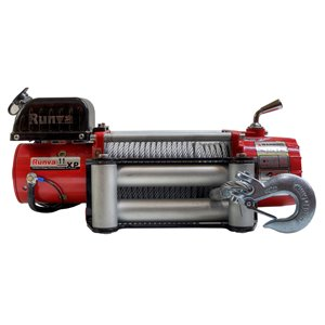 Runva Electric Winch with Steel Cable - 12 V - 11,000-lb - 6.5 HP Motor