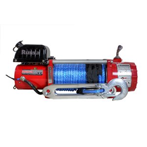 Runva Electric Winch with Synthetic Rope - 12 V - 16,000-lb - 6.5 HP Motor
